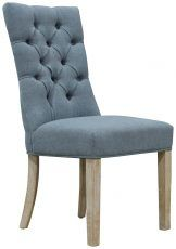 Block & Chisel blue upholstered button tufted dining chair