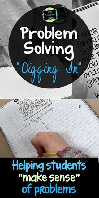 """Helping students learn to """"dig in"""" to word problems and make sense of them is so important!  This blog post gives you FIVE tips on how to help your students persevere and tackle those tricky problems!"""