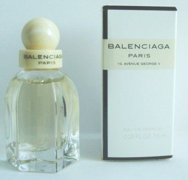 Balenciaga Paris Perfume Mini for Women 7.5 ml (0.25 oz) Eau De Parfum Miniature by Balenciaga. $12.99. Balenciaga Paris Perfume Mini for Women 7.5 ml (0.25 oz) Eau De Parfum Miniature. Balenciaga Paris Perfume Mini for Women 7.5 ml (0.25 oz) Eau De Parfum Miniature  Balenciaga Paris is not a romantic floral fragrance, but created with a dose of the urban and the traditional with nuances of metal effects. Its composition is characterized as a chypre floral with acc...