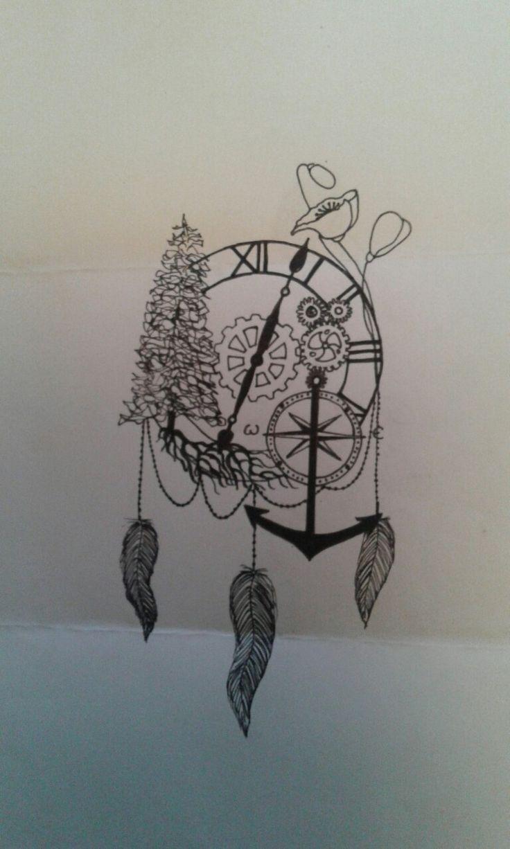 1000 id es propos de tatouages horloge sur pinterest dessins de tatouage tatouage de. Black Bedroom Furniture Sets. Home Design Ideas