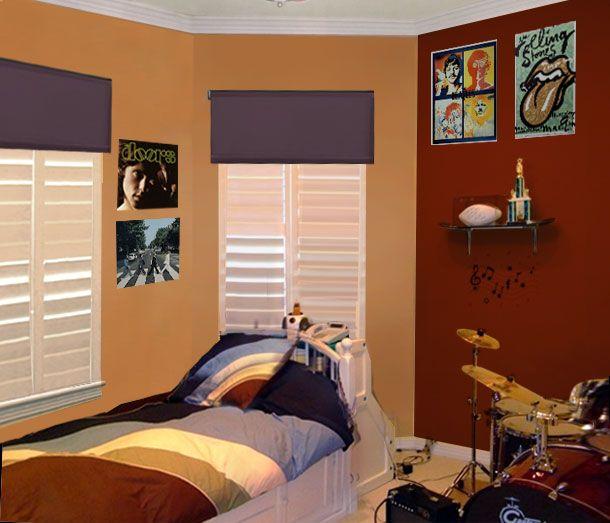 Boy Bedroom Paint Ideas Boys Bedroom Red