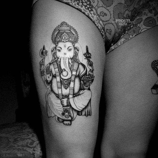 hindi tattoo on thigh