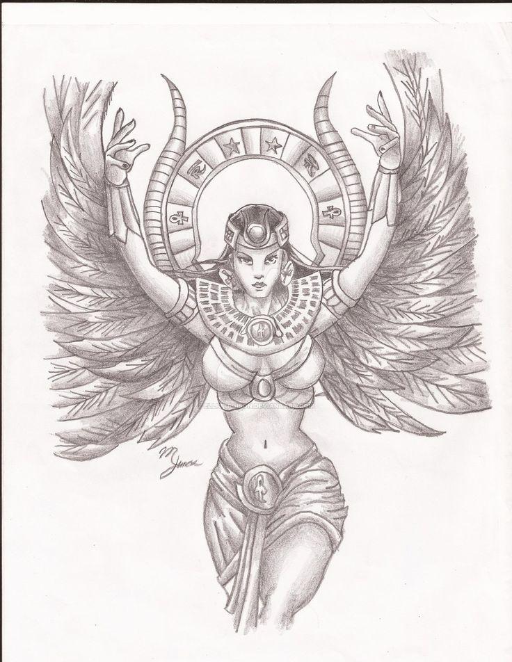 Goddess Isis by elliotpoison.deviantart.com on @DeviantArt