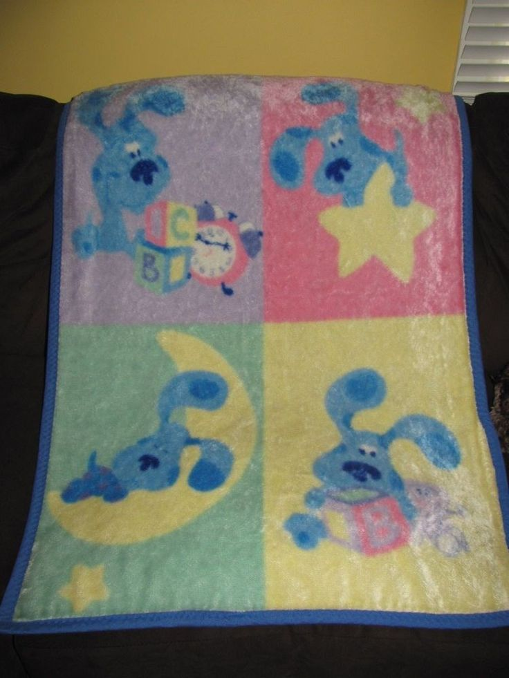 Blues Clues Blanket Baby Toddler Plush Throw Blocks Moon