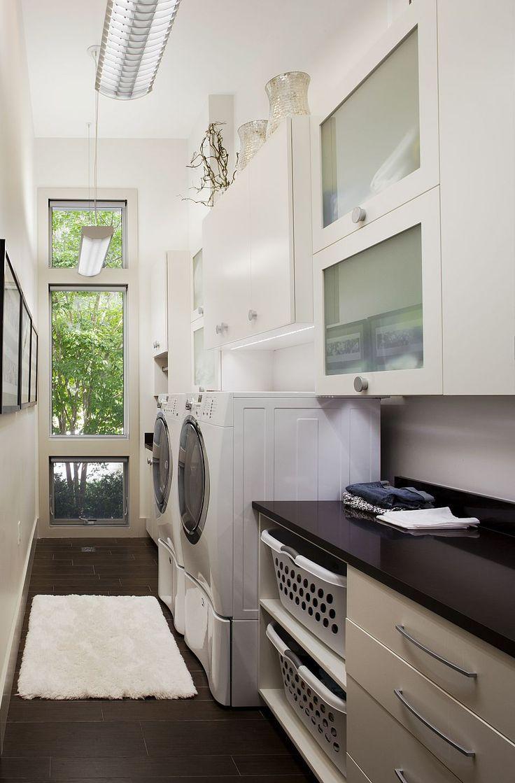 Amanda Webster Design: Classic Contemporary Laundry Room Interior Design / Photo: Neil Rashba