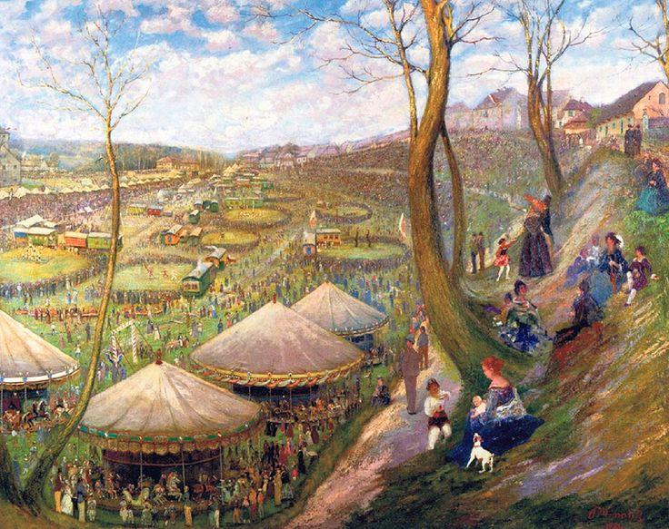 Jan Minařík - Fidlovačka v Nuselském údolí (1894)