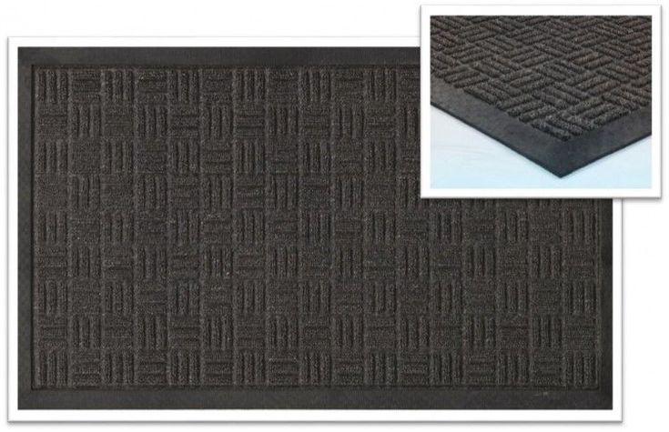 Non Slip Rubber Scraper Door Mat Indoor Outdoor Water Resistant 18 x 30 In Rug  #PerfectHomeSavings #Modern