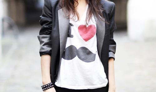 mooie snor shirt
