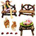 Pretmanns Fairy Gardens Starter Kit & Accessories: Miniature Fairy Figurines - Bella And Friends (14 Pieces Set)