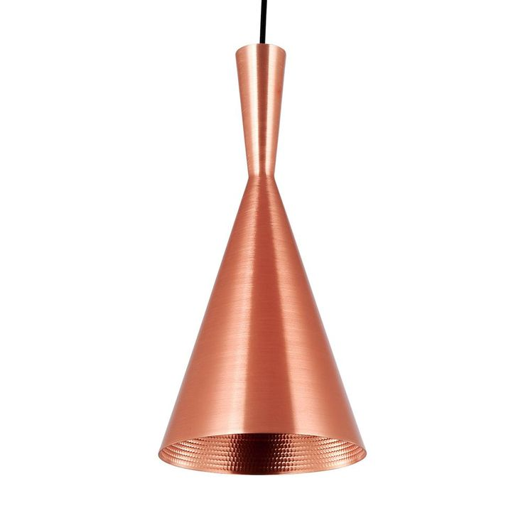 Tall beat pendant light in copper unique modern furniture dot bo