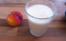 Organic peach smoothie