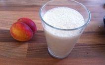 Organic peach smoothie yummm