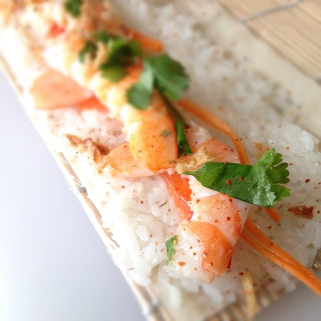 Thaï shrimp Nigiris