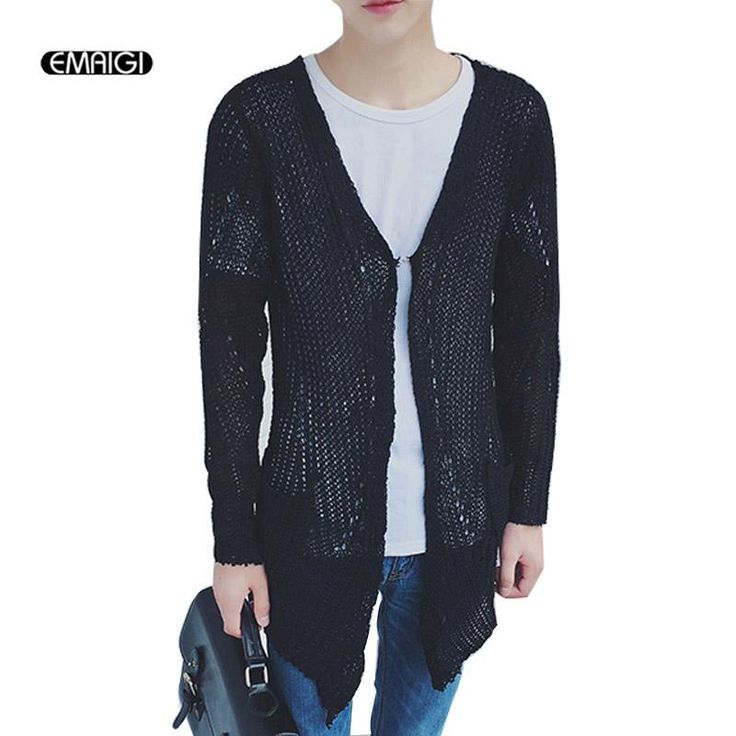 ICYMI: Mens casual sweater spring autumn sweater coat knit cardigan jacket vintage punk