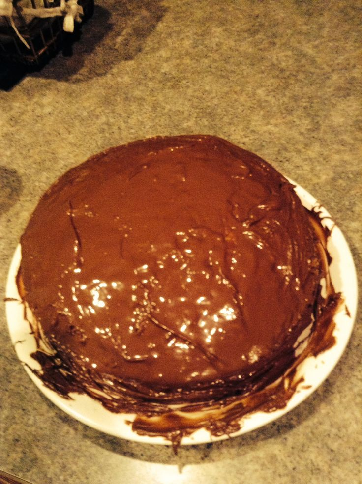 Instead of using the typical frosting, I put Nutella on it