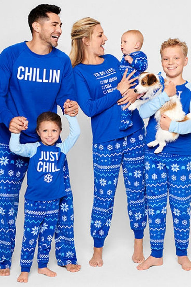 c5c32385f7 JCPenny s online has the Perfect Christmas matching family pajamas   christmasnight  christmas  christmaseve  family  puppy  child  kids   parents  mom  dad ...