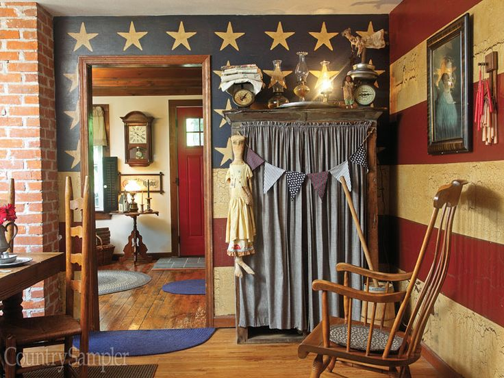 Country style home decor americana rockers