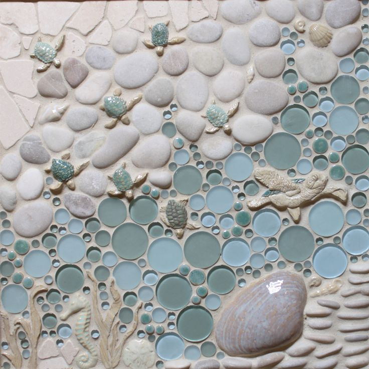 Nautical Tiles For Your Beach House. Custom Borders & Murals For Kitchen Backsplash, Bathroom, Shower Floor, Wall, And Pool | Ocean Dog Collection