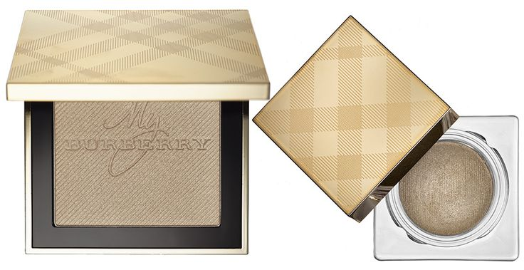Burberry Makeup Collection for Christmas 2015    Gold Glow Fragranced Luminising Powder & Eye Colour Cream in Festive Gold n 120