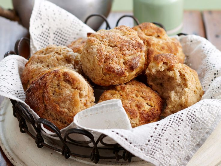 A family favourite - these glorious apple, ricotta and cinnamon scones are wonderful served warm from the oven with a spread of butter or fresh cream.