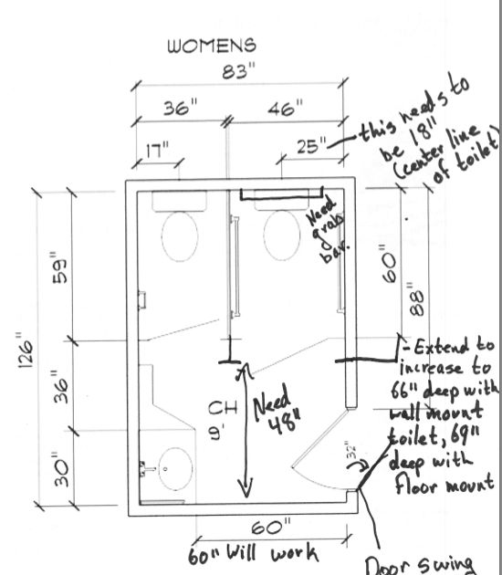 standard toilet stall dimensions. Functional Homes  Universal Design for Accessibility ADA How to Convert a standard Public Bathroom into an Regulation 41 best Arch and disability images on Pinterest Ada bathroom