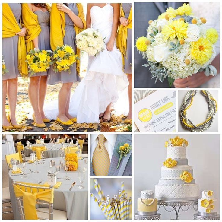 Grey + Yellow Wedding Inspiration Board