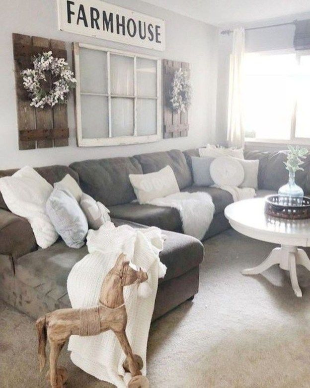 37 Brilliant Farmhouse Living Room Decor Ideas To Try Asap