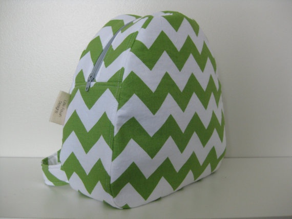 Green Chevron Toddler Backpack by LittleFawnDesigns on Etsy, $35.00  'I heart #littlefawndesigns'