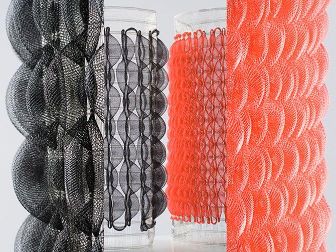 matieresOuvertes_lucecouillet_coussinair_1_materiautheque Coussin d'air / 2, Gamme de textiles 3D aux propriétés amortissantes, respirantes et massantes.