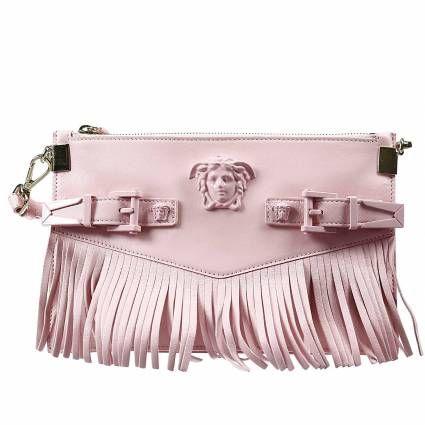 Borsa Versace Donna | Borsa palazzo tracollina pelle con frange