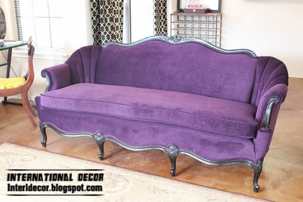 Luxury purple furniture, sets, sofas, chairs for living room interior ...