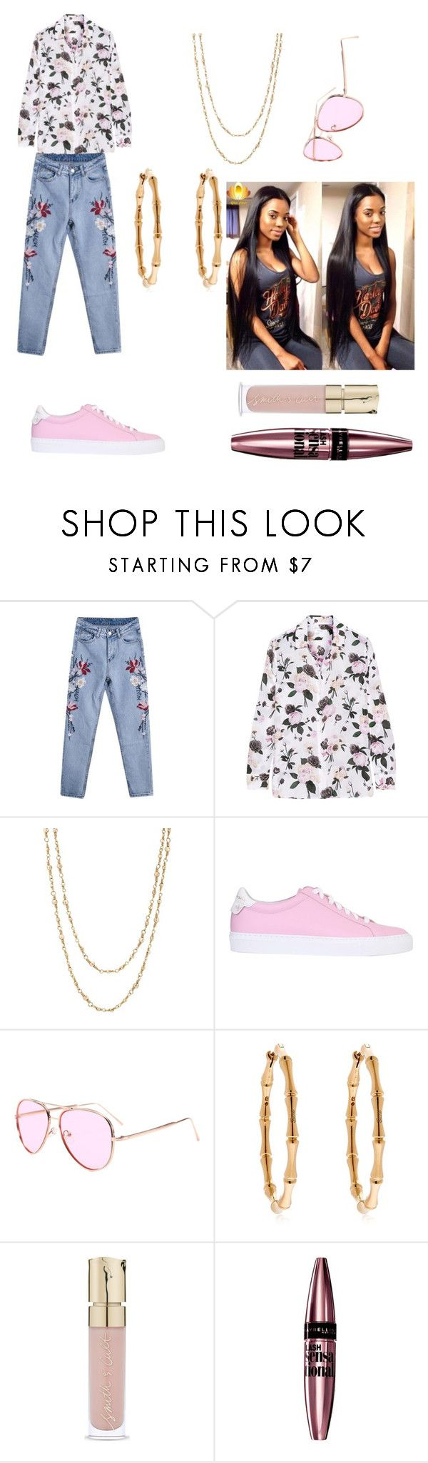 """""""Chase checks"""" by fashionkillakaren ❤ liked on Polyvore featuring Equipment, Samira 13, Givenchy, Gucci, Smith & Cult and Maybelline"""