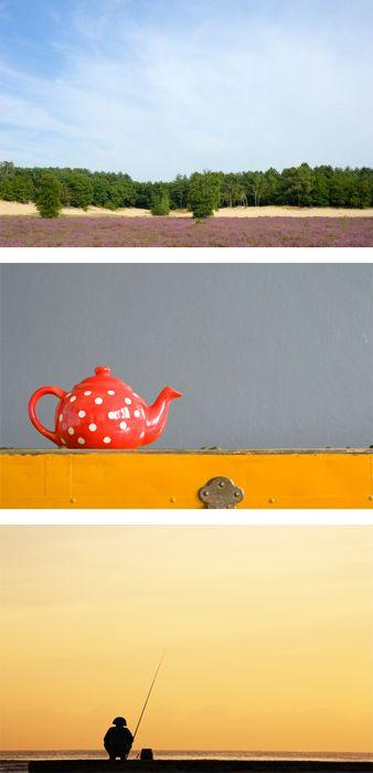 Zet je horizon eens laag in beeld voor een spannender effect, zoals in deze 3 foto's. #fotografietip  #compositie