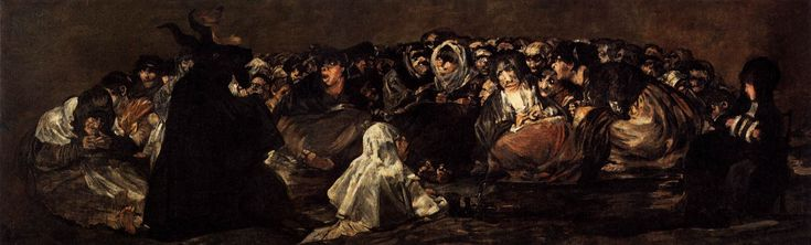 White Witchcraft paintings | Francisco de Goya y Lucientes Black Paintings: Witches Sabbath (The ...