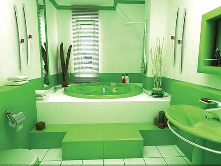 Relaxing Green Bathroom Colors