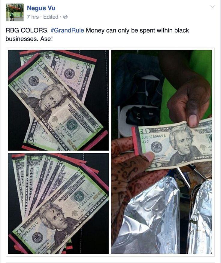 Dear Negus Vu…Coloring Red, Black, & Green On Money IS NOT Black Empowerment