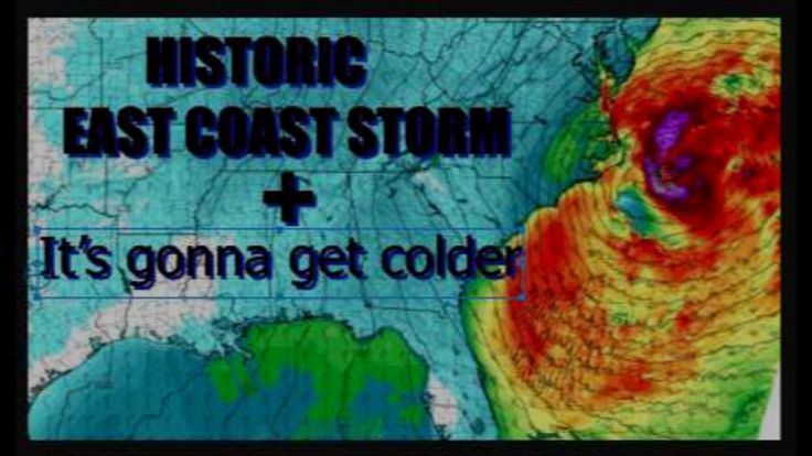Historic East Coast STORM possible + It is going to get Colder