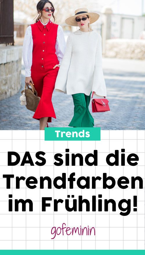 Trendfarben im Frühling 2018: An diesen 4 Farben kommst du nicht vorbei! #trendfarben #trends #modetrends #fashion #stylingtipps