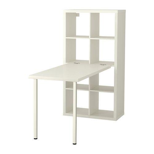 KALLAX Schreibtischkombination IKEA Sieht von allen Seiten gut aus und kann auch als Raumteiler benutzt werden.