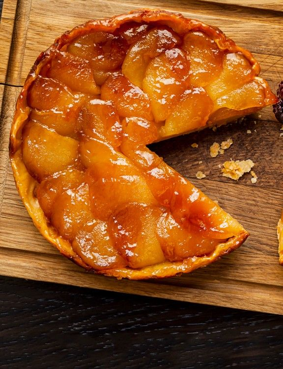 Apple tart with blackberry and soured cream    This recipe for apple tart with blackberry and soured cream comes from Percy and Founders in Fitzrovia, London. It's easy to make and can be prepared ahead, so it's a great one for when you're entertaining.