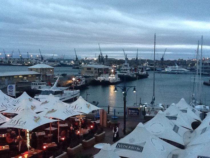 V&A Waterfront on a cold evening