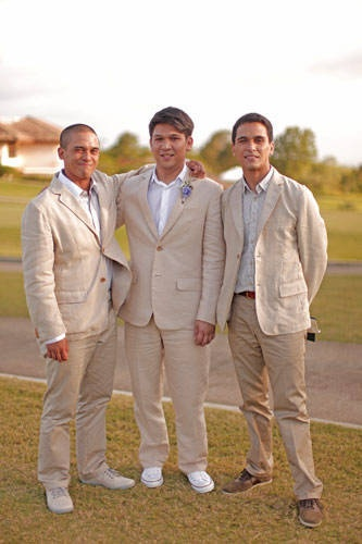 summer groom party done well khaki linen suits wrinkles and chinos perfect casual