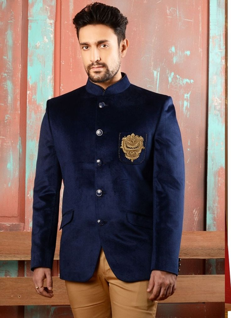 Blue Velvet Mens Waist Coats