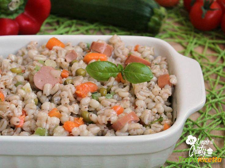 INSALATA FREDDA ORZO PERLATO E WURSTEL  #ricette #food #recipes