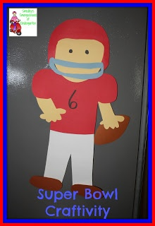 45 best preschool theme sports images on pinterest for Football crafts for preschoolers