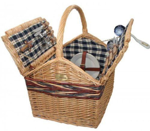 Sutherland Farmhouse Picnic Basket for 4