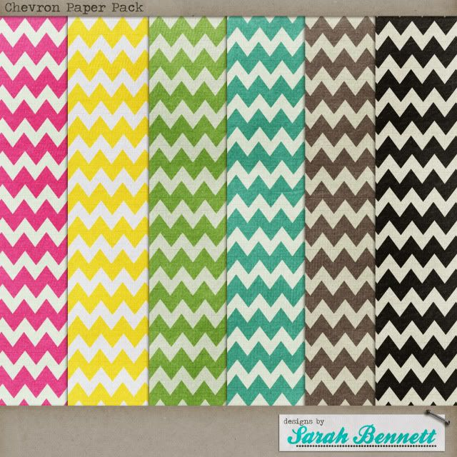 Quality DigiScrap Freebies: Chevron Paper Pack freebie from Designs by Sarah Bennett