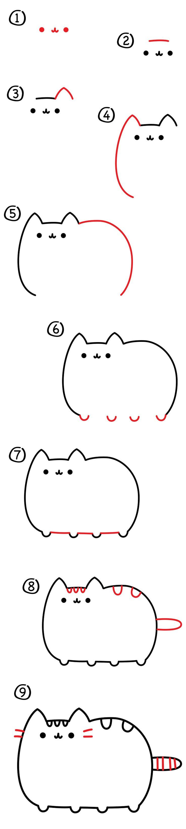 :) :) :) Follow along and learn how to draw the Pusheen Cat! Also visit the official website and draw things for your cat to play with.