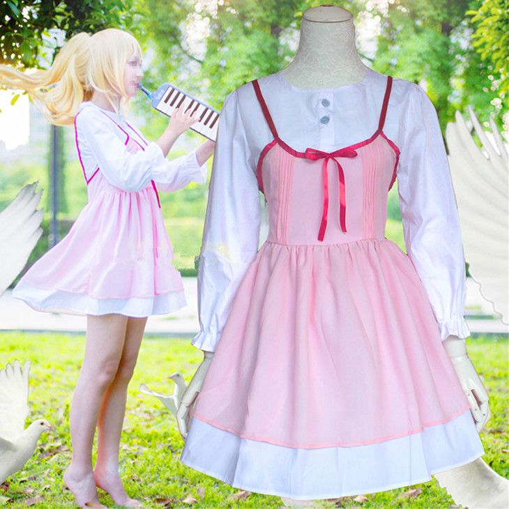 M/L [Your Lie in April] Miyazono Kaori School Dress Cosplay Costume CP153972