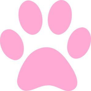 Pink Paw Print clip art - vector clip art online, royalty free & public domain